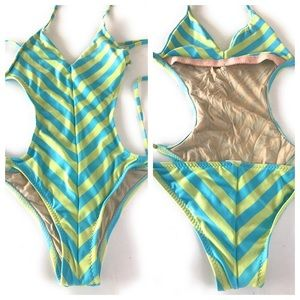 Made by Dawn Striped Monokini